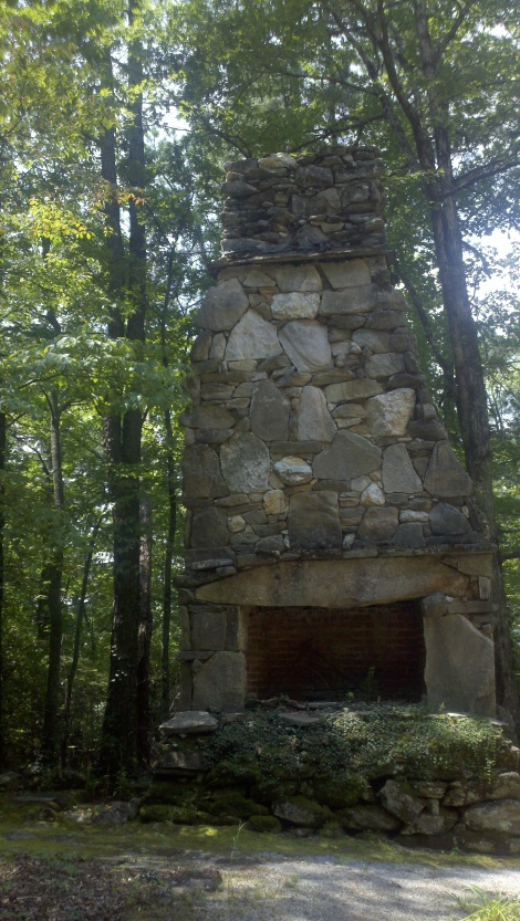 chimney from camp theatre + Lil's grave sight/clayton, ga/august 2012