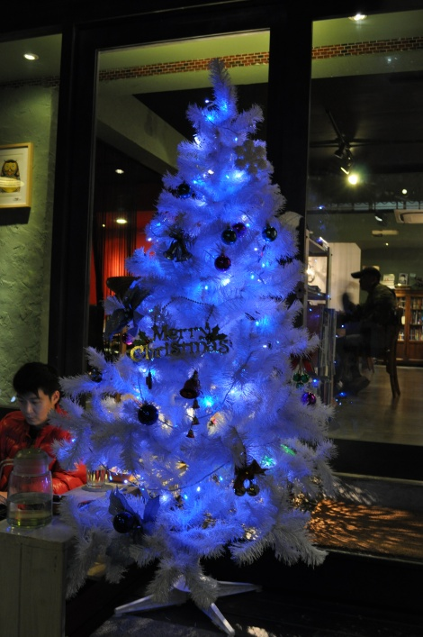 tree at my fave cafe, yaboo/the neighb, taipei/dec 2012