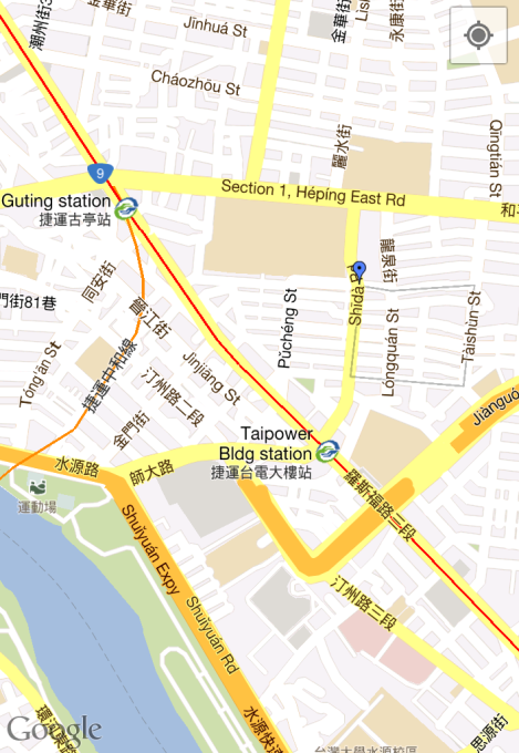 lil map of market's general area.../taipei/dec 2012
