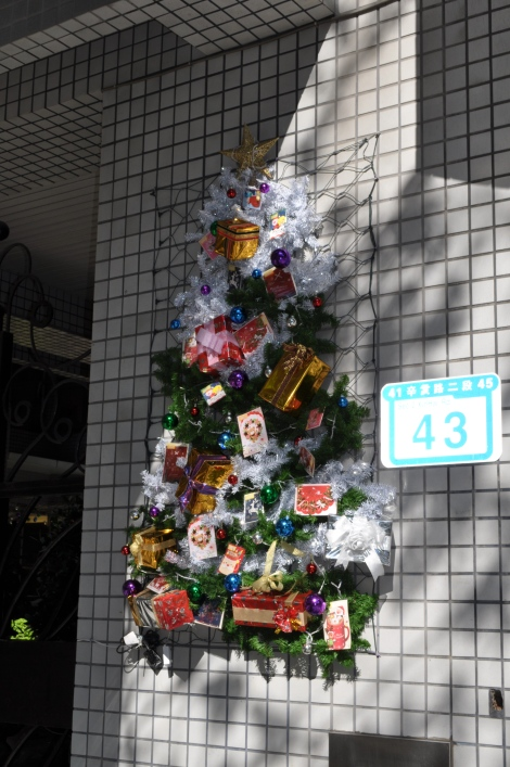 fun wall tree near campus/taipei/dec 2012