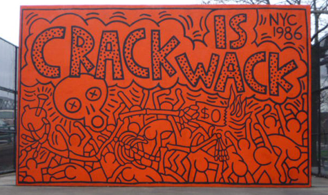 I for Crack is wack mural