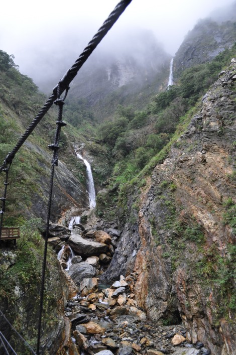 waterfalls from another view/taroko, taiwan/jan 2013