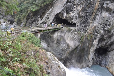 bridge from bridge/taroko, taiwan/jan 2013