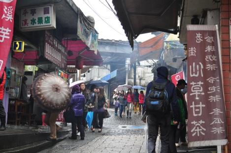 old main street/pingxi, taiwan/jan 2013