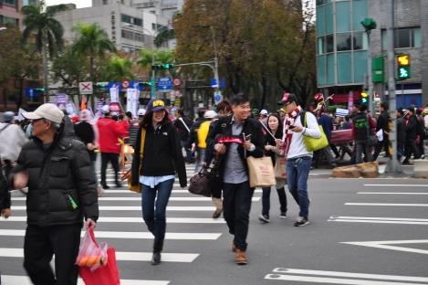 happy protestors/fury rally, taipei/jan 2013