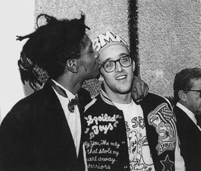 basquiat + haring: two of nyc's finest (graffiti) artists. RIP, boys. <3/club 57, nyc/photo from estate of keith haring