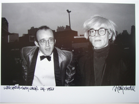 my favorite pic of keith haring + andy warhol/nyc/1986/photo by Ricky Powell