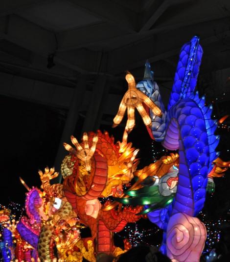 row of dragons/yuanshan park, taipei/feb 2013