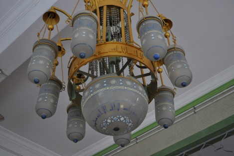 inside masjid sultan mosque/arab quarter, singapore/march 2013
