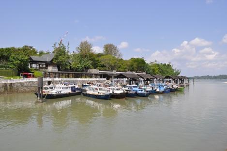 bum boats to pulau ubin/singapore/march 2013