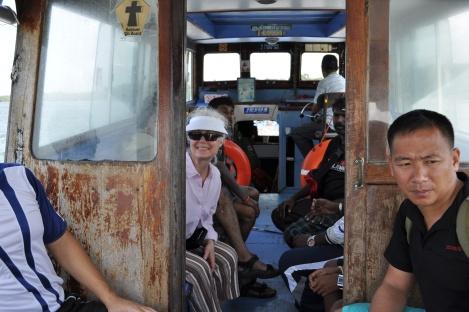 ma on the bum boat to pulau ubin/singapore/march 2013