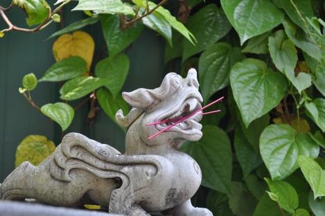 dragon'n'incense/pulau ubin, singapore/march 2013