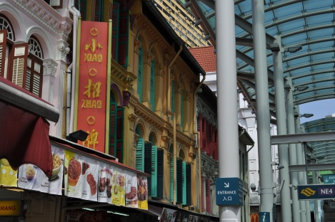 fabulous colors in chinatown's shopping strip/singapore/march 2013