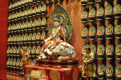 akasagarbha bhodisattva (guardian deity for tigers like me!) in buddha tooth relic temple/singapore/march 2013