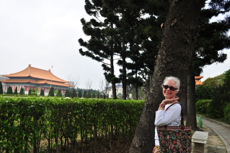 mama posing at cks/taipei/march 2013