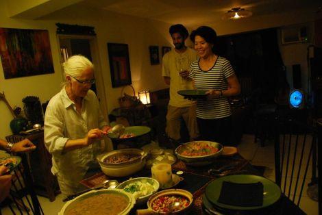 ladies, dinner is served/manav's casa, taipei/march 2013
