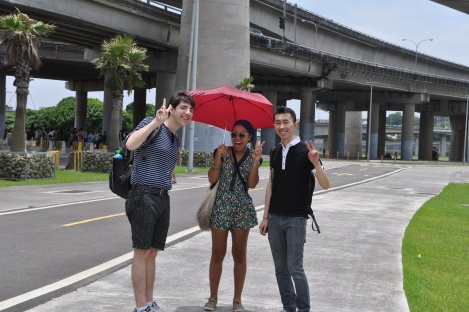 dan, christian + shawn!/dajia riverside park, taipei/june 2013