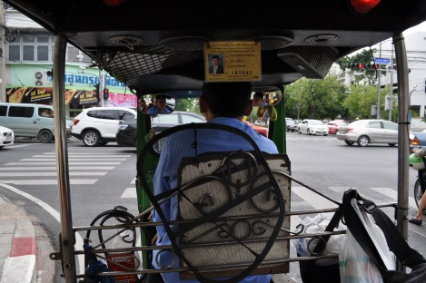 in the back of an honest driver's tuk-tuk