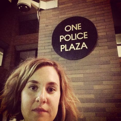 IN MEMORY OF ERIC GARNER: Obligatory just-released-from-holding selfie by Lulu at 1 Police Plaza \\ #applesandazaleas #socialresponsibility #blacklivesmatter #ericgarner #icantbreathe