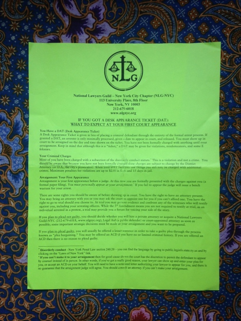 National Lawyers Guild Fact Sheet \\ #applesandazaleas #socialresponisbility #blacklivesmatter