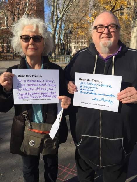 My parents at #DearMrTrump
